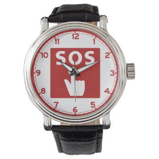 SOS, Subway Sign, Japan Wrist Watches