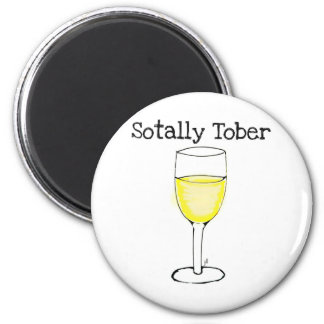 SOTALLY TOBER WINE GLASS FUNNY 6 CM ROUND MAGNET