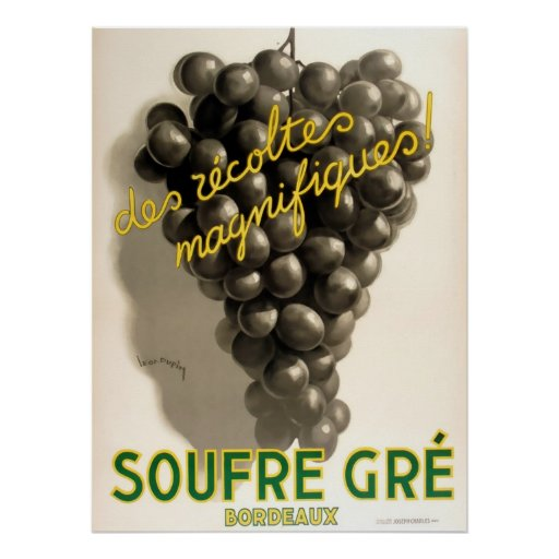 Soufre Gre Bordeaux Vintage French Poster