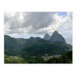 Soufriere and the Pitons St Lucia Postcard