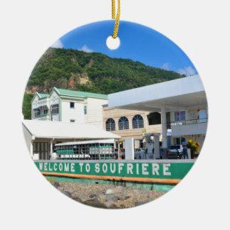 Soufriere Saint Lucia Christmas Ornament