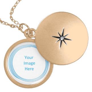 Soul Blissed Circle Custom Gold Finish Locket Pendant