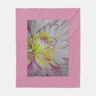 Soul Food Dahlia Watercolor Fleece Blanket
