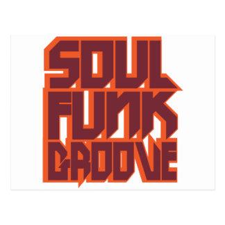 Soul Funk Groove Postcard