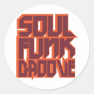 Soul Funk Groove Classic Round Sticker