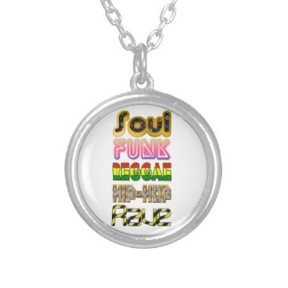 Soul, Funk, Reggae, Hip-Hop, Rave Silver Plated Necklace