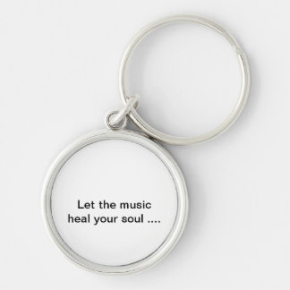 soul healing Silver-Colored round key ring
