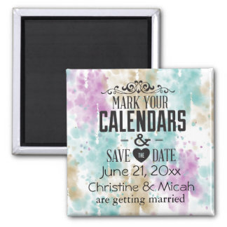 Soul Mate Abstract Save the Date Magnets