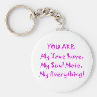 Soul Mate Poem Basic Round Button Key Ring
