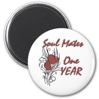 Soul Mates 1 year Refrigerator Magnet