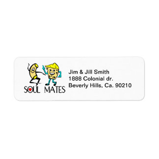Soul Mates Best Friends Return Address Label