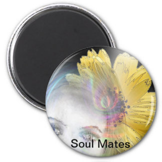 """Soul Mates Forever""* 6 Cm Round Magnet"