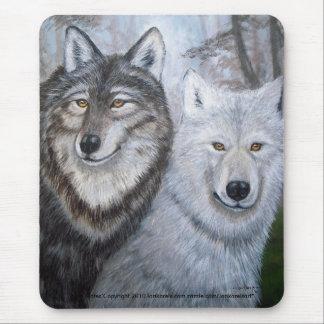 Soul Mates Wolves by Lori Karels Mouse Pad