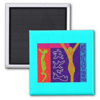 Soul ~ Modern Art ~ Square Magnet