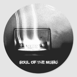soul of the music classic round sticker