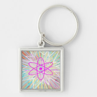 Soul Power - Solar Energy Silver-Colored Square Key Ring