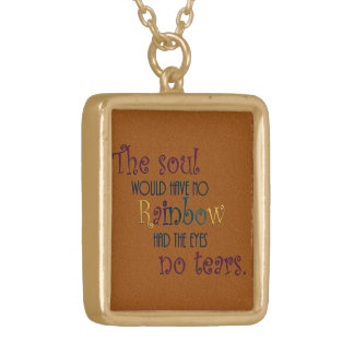 Soul Rainbow Tears Quote Necklace