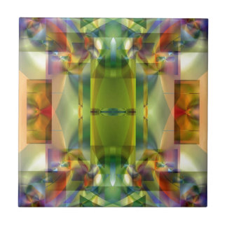 Soul Sanctuary 5 Shimmering Color Abstract Ceramic Tile