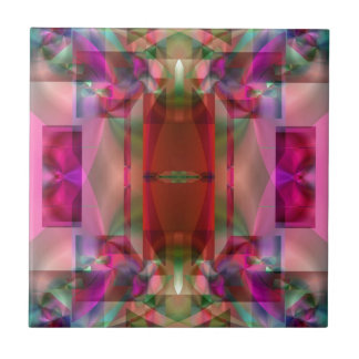 Soul Sanctuary Shimmering Color Abstract Ceramic Tile