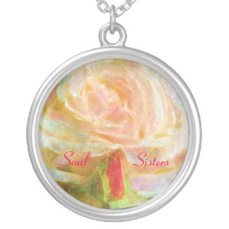 Soul Sister Rose Necklace/Pendant Silver Plated Necklace