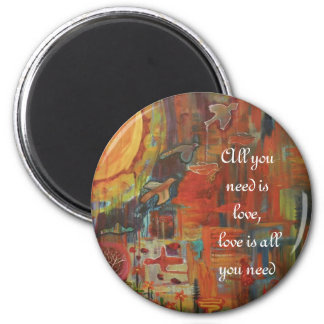 Soul Song 6 Cm Round Magnet
