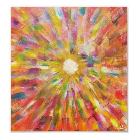 Soulbursting -16x20 in. colourful abstract print