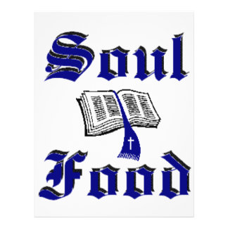 Soulfood Dark Blue Design 21.5 Cm X 28 Cm Flyer