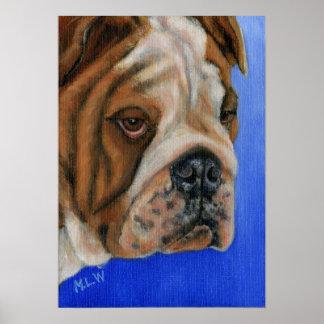 Soulful Bulldog - Dog Breed Art Posters