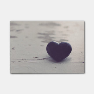 Soulful Purple Stone Heart on a Sandy Beach Post-it Notes