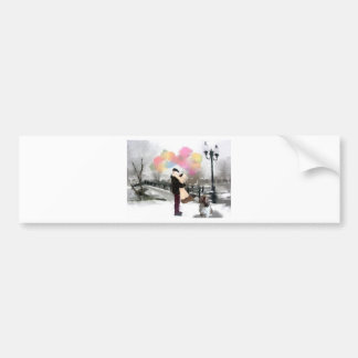 Soulmate_Painting_nicole.jpg Bumper Sticker