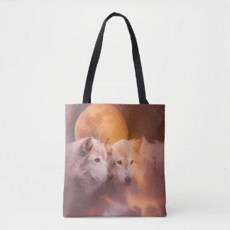 """Soulmates"" Wolves Tote Bag"
