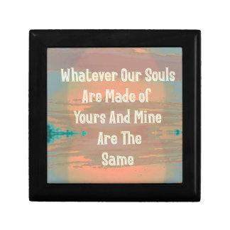 """Souls Are Made The Same"" Zen Design Small Square Gift Box"