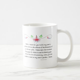 soul's garden basic white mug