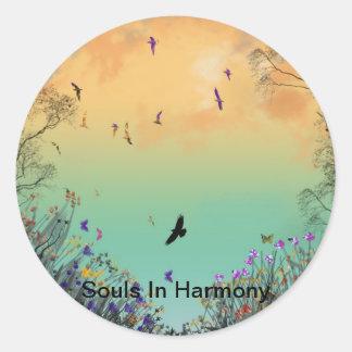 """Souls In Harmony""* Classic Round Sticker"
