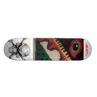souls of eyes and skulls custom skateboard