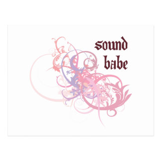 Sound Babe Postcard