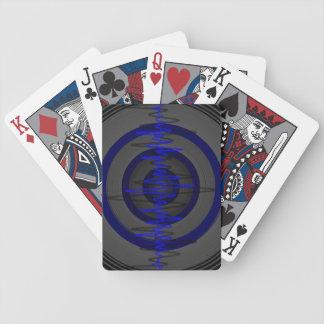 Sound Blue Dark playing cards vertical
