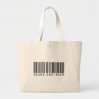 Sound Engineer Bar Code Large Tote Bag