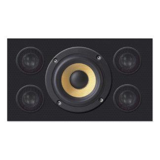 Sound Engineer Business Card Loud Speakers