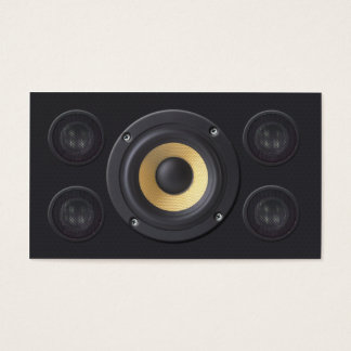 Sound Engineer Business Card Loud Speakers