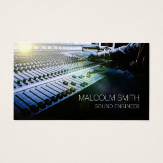 Sound Engineer Sound MiIxing Console Business Card