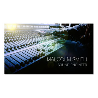 Sound Engineer Sound MiIxing Console Pack Of Standard Business Cards