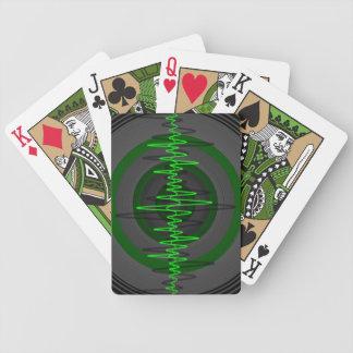 Sound Green Dark playing cards vertical
