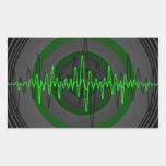 Sound Green Dark sticker rectangle