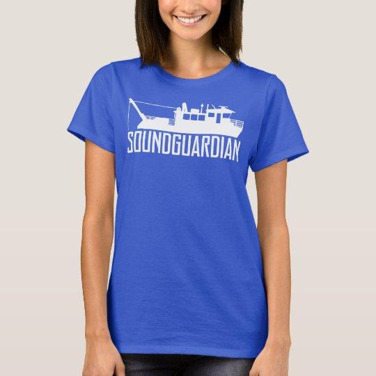 Sound Guardian Womens Navy Blue T-Shirt