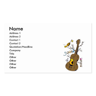 sound of nature Double-Sided standard business cards (Pack of 100)