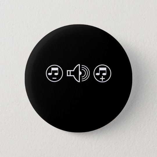 Sound On 6 Cm Round Badge