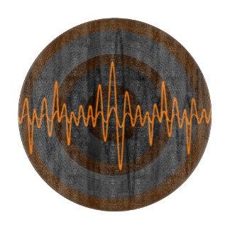 Sound Orange Dark cutting board round