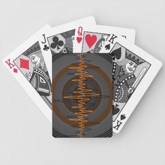 Sound Orange Dark playing cards vertical