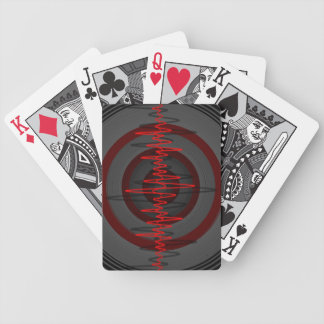 Sound Red Dark playing cards vertical